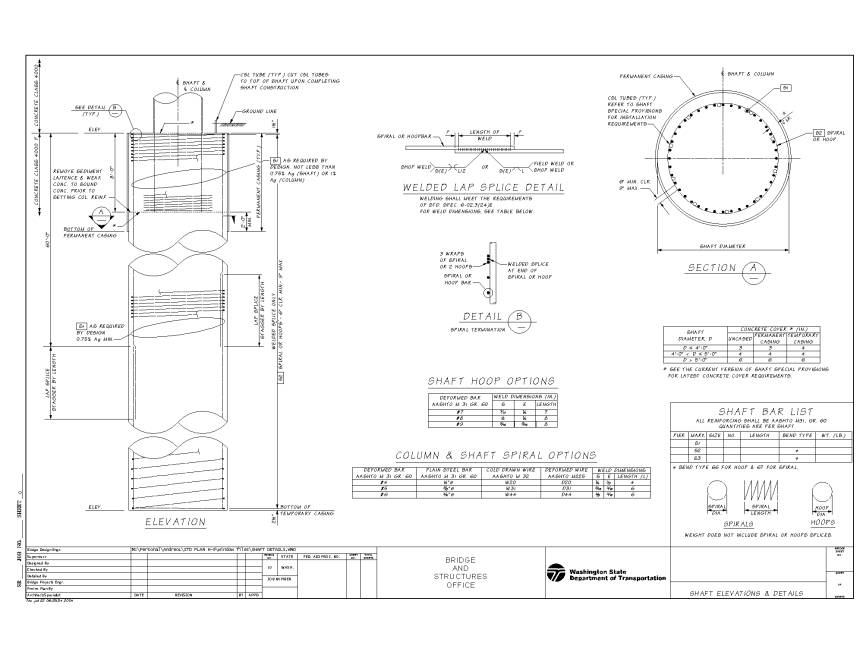 Shaft Design And Detailing Recommendations Pile Detailing
