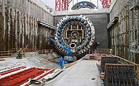 SR 99 tunnel's launch pit
